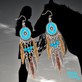 Turquoise Dream Catcher Earrings