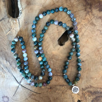 Indian Agate Lotus Mala