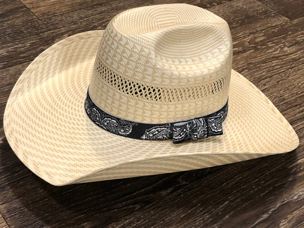 Black and White Paisley Hat band