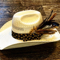 Gold/Black Stars Hat band
