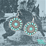 Vintage Turquoise Sun Burst Earrings