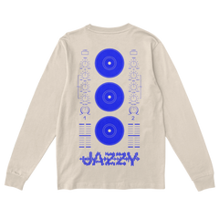 Blue Equalizer Jazzy Long-Sleeved Tee