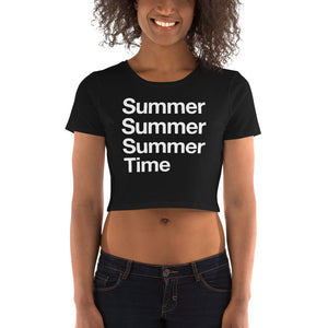 Summertime Women's Crop Tee