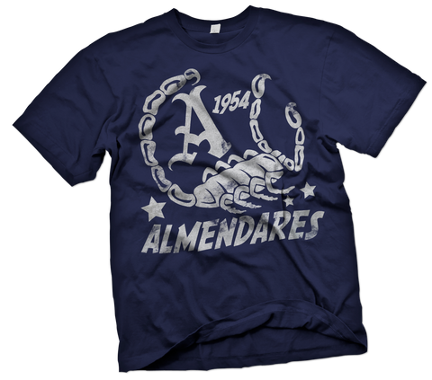 Almendares Alacranes Handpainted T-Shirt - Negro League Baseball Shop