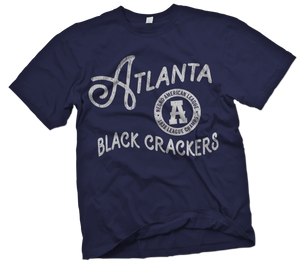 Atlanta Black Crackers Handpainted T-Shirt - Negro League Baseball Shop