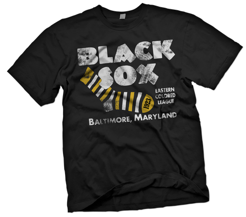 Baltimore Black Sox Hand-Painted T-Shirt - Negro League Baseball Shop