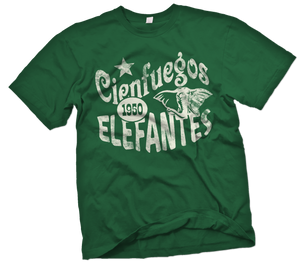 Cienfuegos Elefantes Handpainted T-Shirt - Negro League Baseball Shop