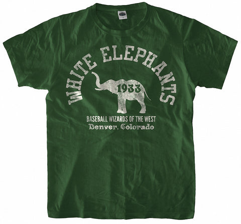 Denver White Elephants Handpainted T-Shirt