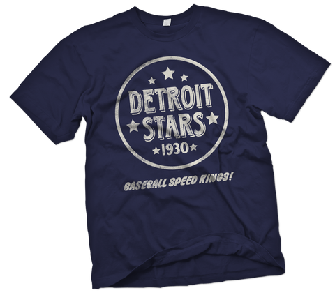 Detroit Stars Handpainted T-Shirt - Negro League Baseball Shop