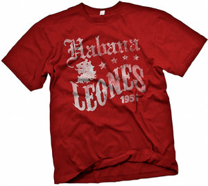 Habana Leones Handpainted T-Shirt - Negro League Baseball Shop