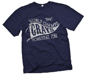Homestead Grays Handpainted T-Shirt - Negro League Baseball Shop