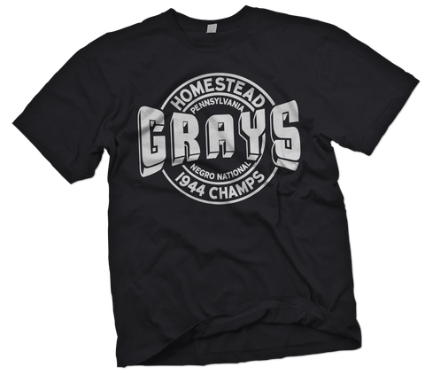"Homestead Grays ""Platinum"" T-Shirt - Negro League Baseball Shop"