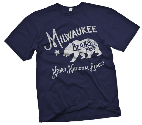 Milwaukee Bears Hand-Painted T-Shirt - Negro League Baseball Shop