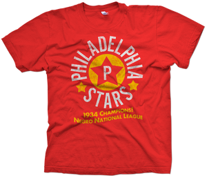 Philadelphia Stars Hand-Painted T-Shirt - Negro League Baseball Shop