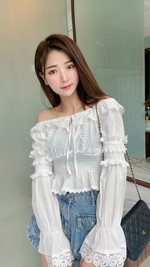 7027 Off Shoulder Lace Top
