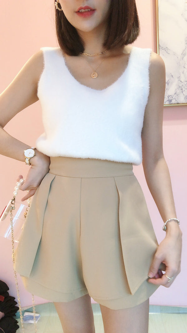 1109 Asymmetrical Peplum Shorts