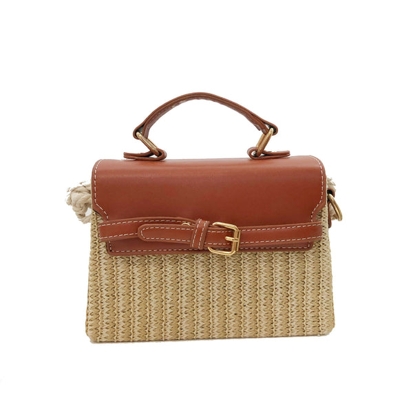 B20 Summer Plaited Straw Bag in Brown