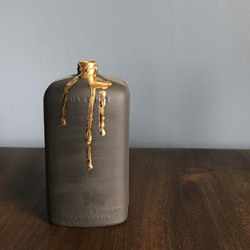 Motor Oil Bottle with Gold
