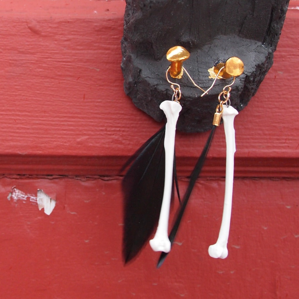 Fowl Play Earrings