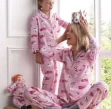 Family Pajamas Mother Daughter Matching Outfits Sleepwear