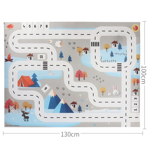 Large City Traffic Car Park Children's Mat