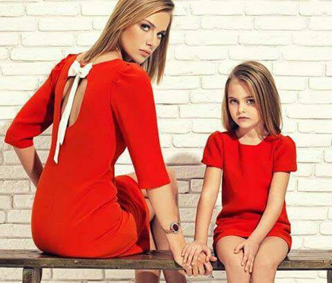 Bow Back Mother Daughter Matching Dresses