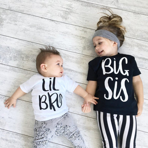 Big Sister & Little Brother Matching T-Shirt Outfit