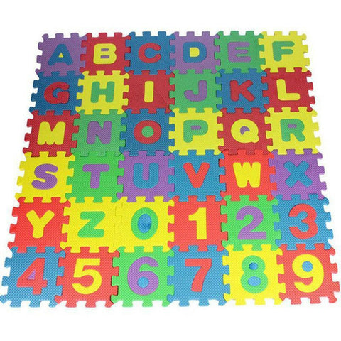 36pcs English Baby Kids Play Mat Alphabet Number Puzzle Toy