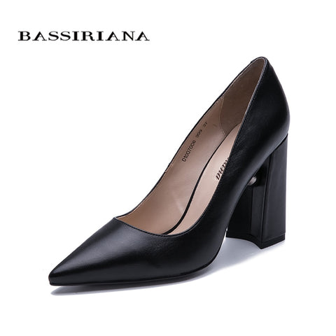 2020 New Ladies High Heel Genuine Leather Shoes