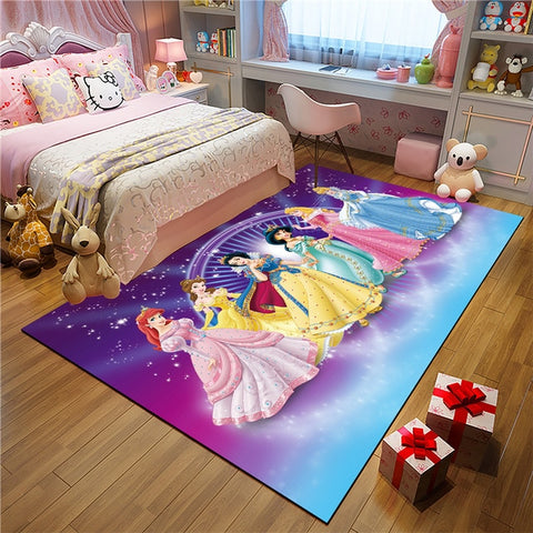 Princess Kitchen Mat Set proof Long Carpet Hallway Doormat Bedside Floor Mat Non-slip Water Absorption Bathroom Rugs