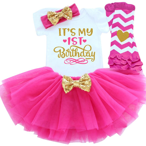 It's My 1st 2nd Birthday Baby Girl Dress