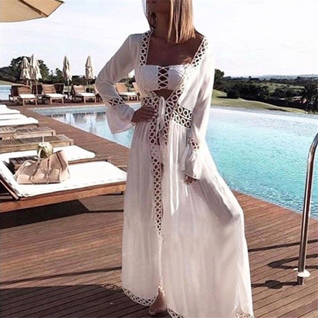 Beautiful White Cotton Summer Maxi Dress