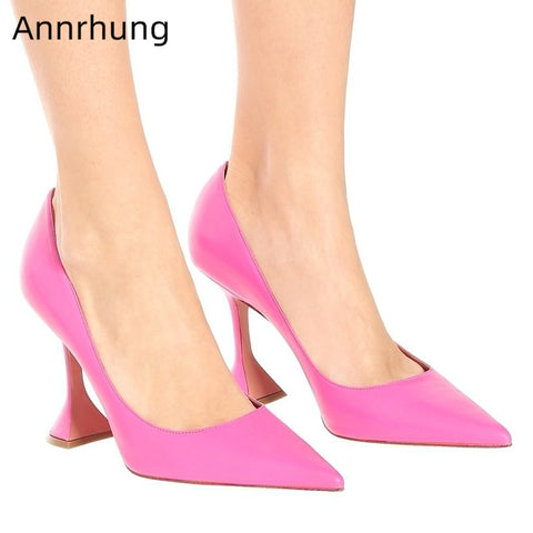 Genuine Leather Slim High Heel Shoes