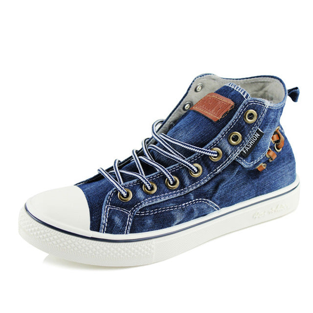 Denim Shoes Women Fashion High Top Sneakers