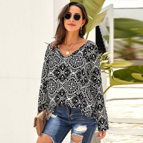 2020 Summer Chiffon Pullover Blouse