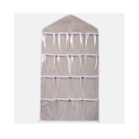 16 Pocket Clear Closet Storage Organizer