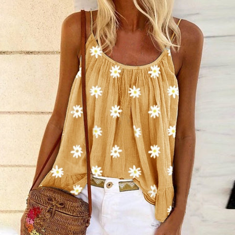 2020 Summer Sexy O-Neck Sleeveless Blouse