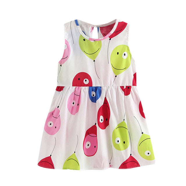 Girls Party Dress with Balloons print