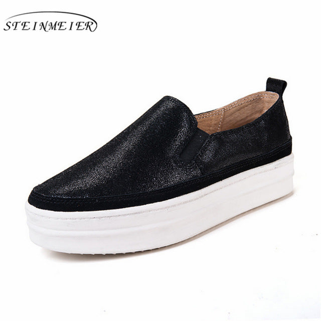 Genuine Leather Platform Casual Women Shoes