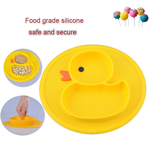 Duck Silicone Feeding Food Plate Tray Dish