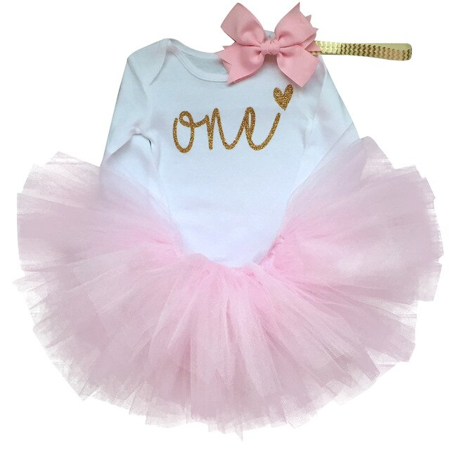 Newborn Baby Dress 1st Birthday Outfit