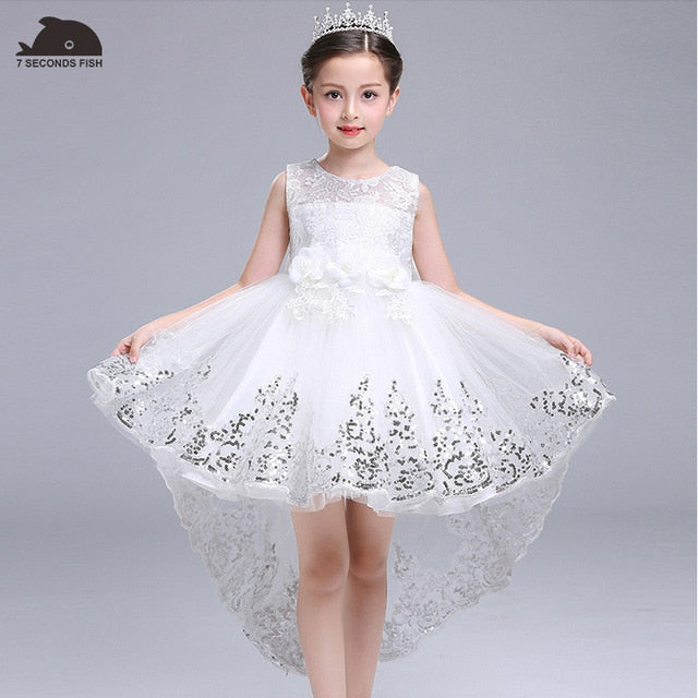 White Princess Dress for 3-14 years