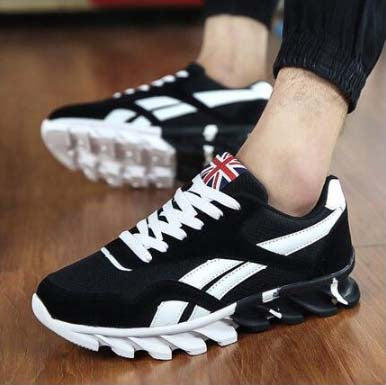 Men Casual Shoes Lace-up Red Blue Spring Autumn Mens comfortable 2018 Breathable Footwear