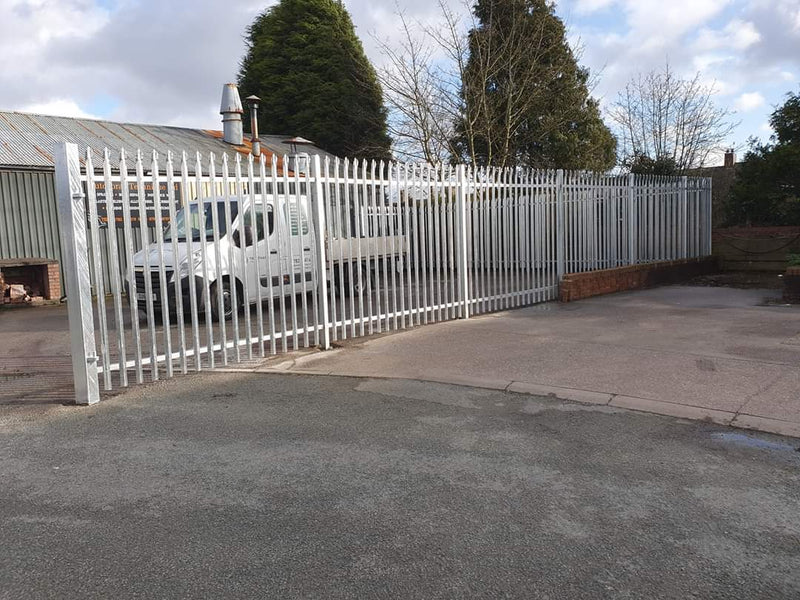 Palisade Compound Fencing complete in Biddulph