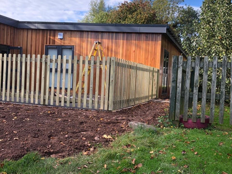 Timber Picket Fencing for a Mobile Classroom in Coventry | Trentham Fencing