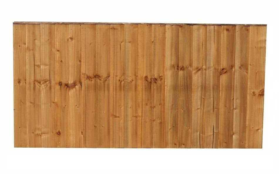 FEATHER EDGE VERTICAL FENCE PANEL 6' X 3'