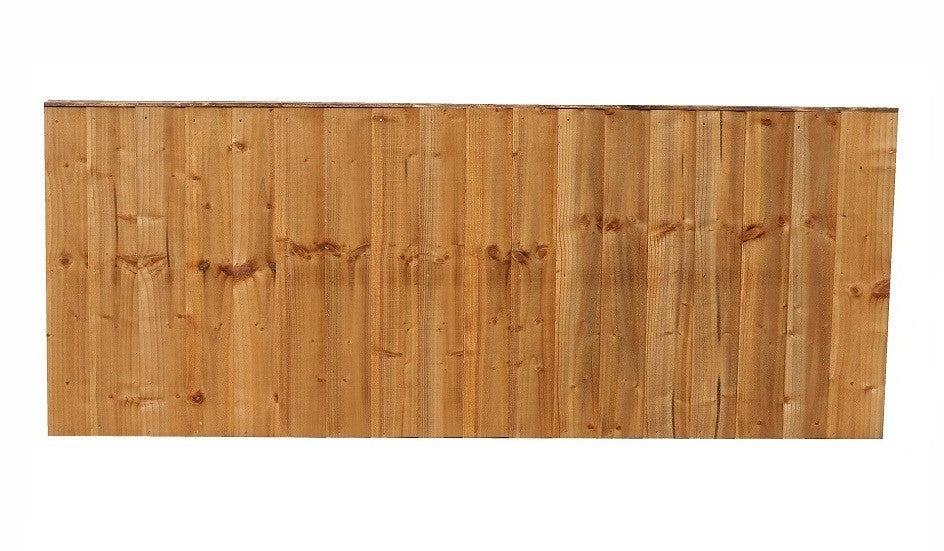 FEATHER EDGE VERTICAL FENCE PANEL 6' X 2' (MADE TO ORDER)