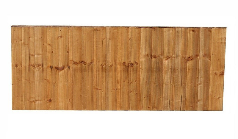 FEATHER EDGE VERTICAL FENCE PANEL 6' X 2'