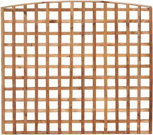 BOW TOP TRELLIS FENCE PANEL (MADE TO ORDER)
