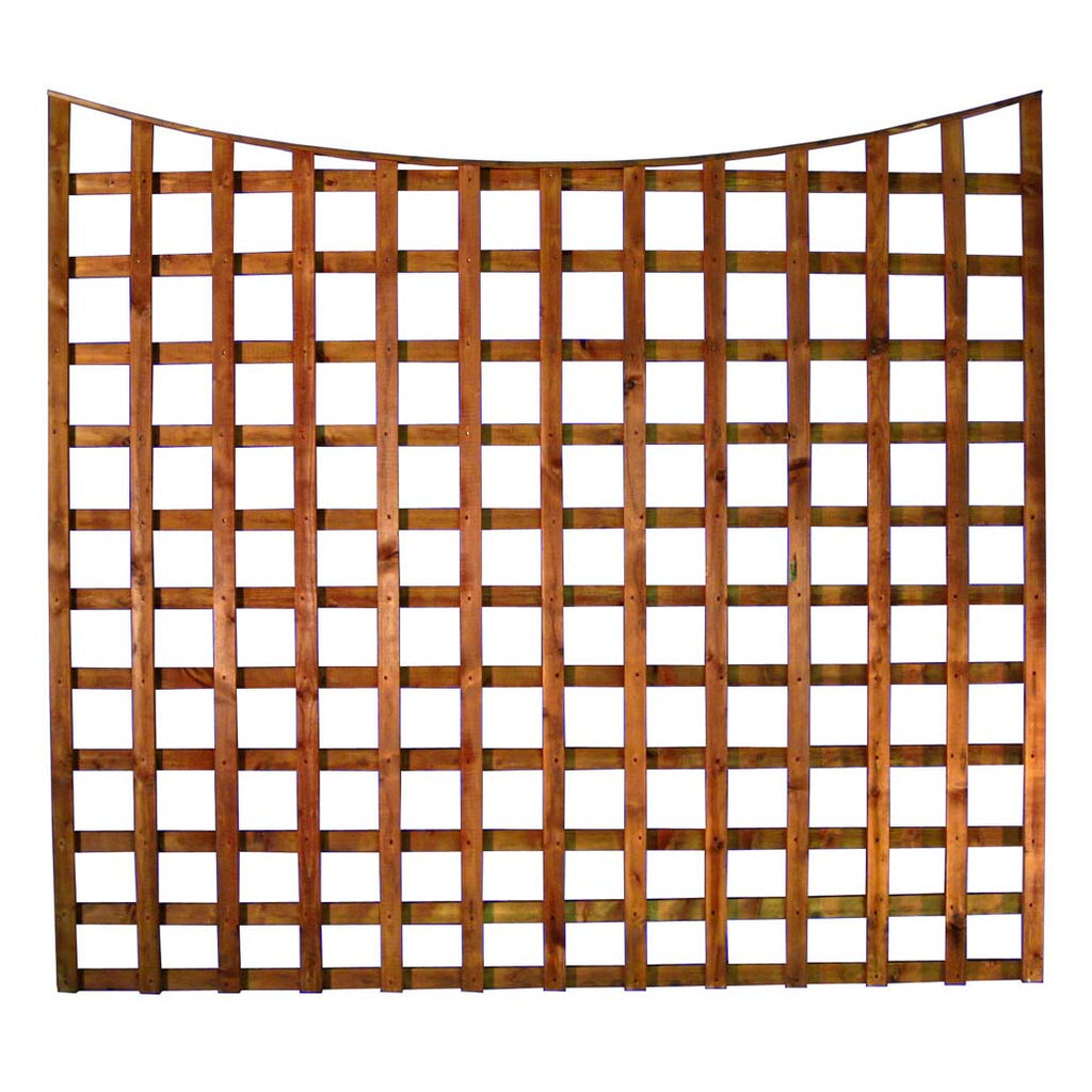 SCOLLOPED TRELLIS FENCE PANEL (MADE TO ORDER)